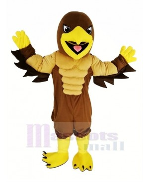 Brown Muscle Mighty Golden Eagle Mascot Costume Animal