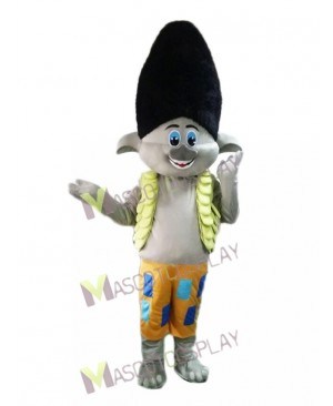 Trolls Boy Branch Mascot Costume Cartoon Boy Mascot Costume