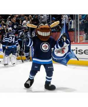 Mick E Moose Of The Winnipeg Jets Manitoba Moose Mascot Costume