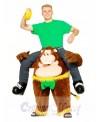 Piggyback Carry Me Ride on Cheeky Monkey Mascot Costume