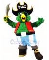 Green Pirate Parrot Mascot Costumes Bird