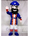 New Redbeard Pirate in Blue Mascot Costume