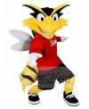 Yellow Bee with White Wings Mascot Costumes Insect
