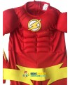 The flash Muscle Kids SHIRT comic Superhero fancy dress fantasia  child cosplay