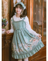 Rabbit Basket Series JSK Ruffle Classic Lolita Sling Dress