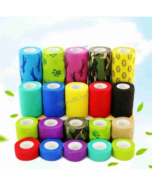 Colorful Self-Adhesive Elastic Bandage Finger Joint Wrap Injury Tape