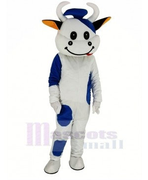Blue Cattle Cow Mascot Costume Animal