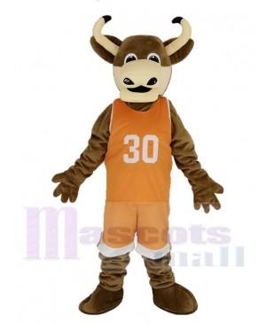 Texas Longhorns Bull in Orange Sportswear Mascot Costume Animal