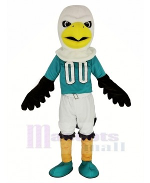 Sport Eagle with Blue T-shirt Mascot Costume Animal