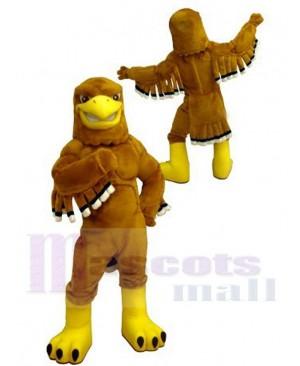 College Fierce Golden Eagle Mascot Costume