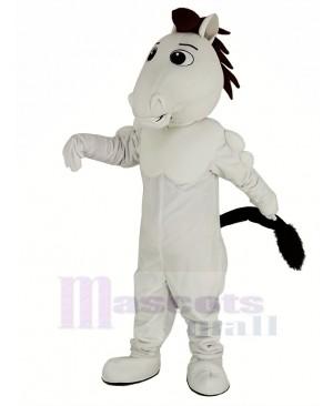 White Mustang Horse Mascot Costume