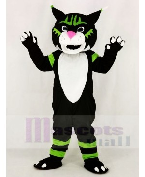Black Wildcat Mascot Costume Animal