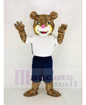 Strong Power Jaguar with T-shirt Mascot Costume Animal