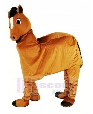 Funny Brown New 2 Person Horse Mascot Costume