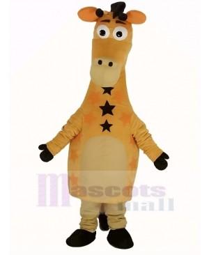 Cute Yellow Giraffe Mascot Costume