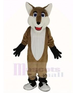 Smiling Fox Mascot Costume