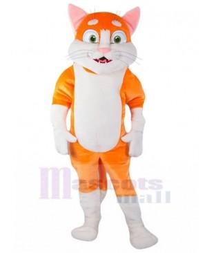 White and Orange Cat Mascot Costume Animal