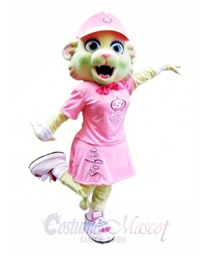 Cute Pink Cat Mascot Costume Pink Kitten Mascot Costumes