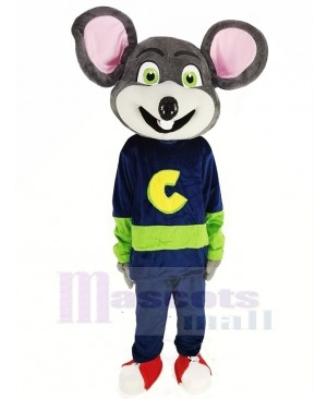 Chuck E. Cheese Mascot Costume Mouse with Green Eyes