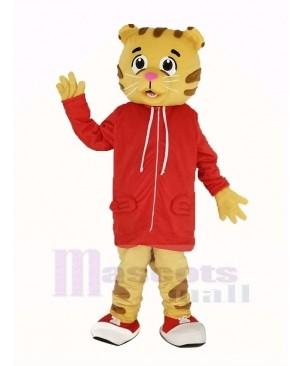 Daniel Tiger with Red Coat Mascot Costume