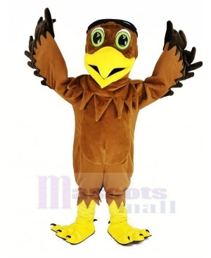 Brown Eagle Ace Pilot Bird Mascot Costume Animal