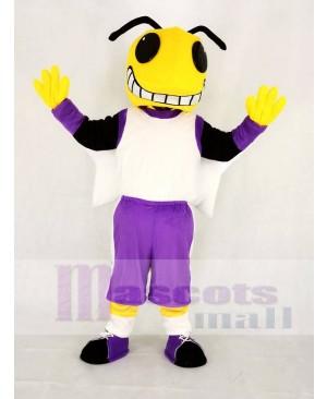 Yellow Hornets in Purple Coat Mascot Costume Animal