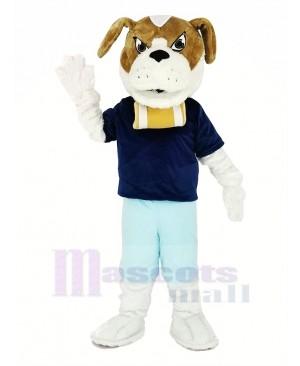 Saint Bernard Dog with Blue T-shirt Mascot Costume Animal