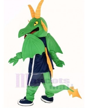 Green and Orange Dragon Mascot Costume