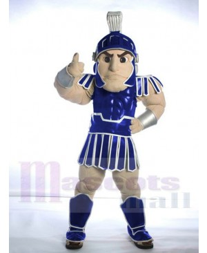 Navy Blue Spartan Trojan Knight Sparty Mascot Costume People