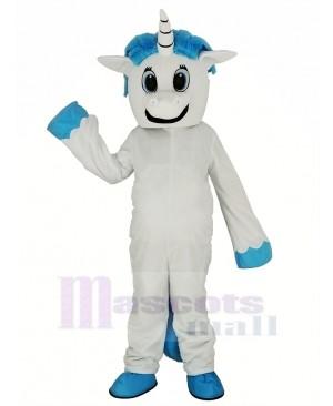 White Unicorn Mascot Costume Cartoon