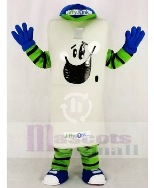 The Trash with Blue Hat Mascot Costume