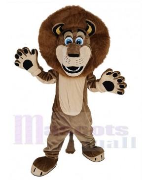 Cute Alex The Lion Mascot Costume Animal