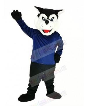Black Bearcat Binturong with Blue Coat Mascot Costume Animal
