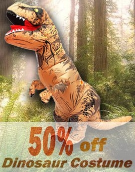 Adult Inflatable T-Rex Costume Dinosaur Halloween Suit Cosplay Fantasy Costume